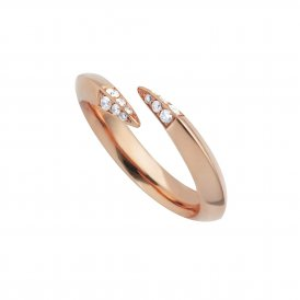 Shaun Leane Rose Gold Signature Diamond Wrap Ring ~ SLS624M