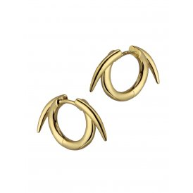 Shaun Leane Silver and Yellow Gold Vermeil Thorned Hoop Earrings