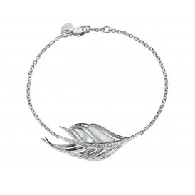 Shaun Leane Silver, Diamond & Mother of Pearl Feather Bracelet