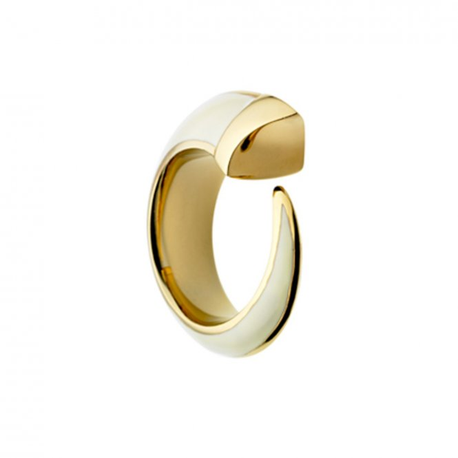 Shaun Leane Tusk Ring Gold & Ivory Small ~ SLS367-S