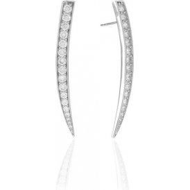 Sif Jakobs Pila Grande Earrings - Silver ~ SJ-E1012-CZ
