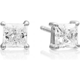 Sif Jakobs Princess Square Earrings - Silver ~ SJ-E5MMSQ-CZ