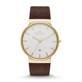 Skagen Ancher Leather Gents Watch SKW6142