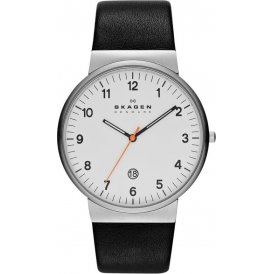 Skagen Ancher Three Hand Leather Ladies Watch SKW6024