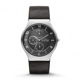 Skagen Grenen Gents' Leather Multifunction Watch SKW6116