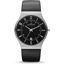 Skagen Grenen Gents Leather Watch 233XXLSLB