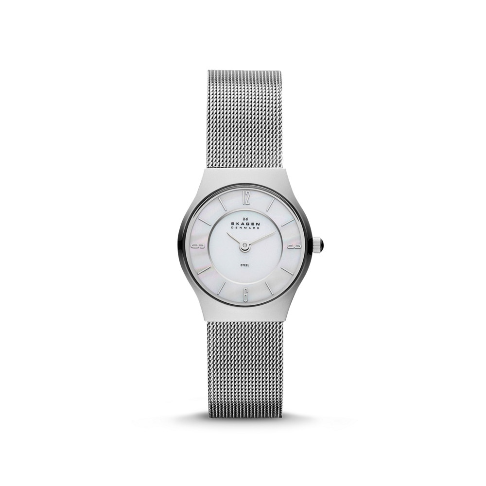 ladies ultra slim medium mesh watch watches steel skagen