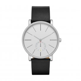 Skagen Hagen Black Leather Gents Watch ~ SKW6274