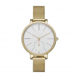 Skagen Hagen Gold Steel Mesh Ladies Watch ~ SKW2436