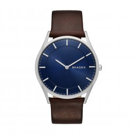 Skagen Holst Brown Leather Gents Watch SKW6237