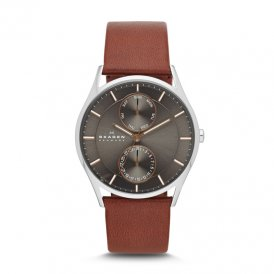 Skagen Holst Multifunction Leather Gents Watch ~ SKW6086