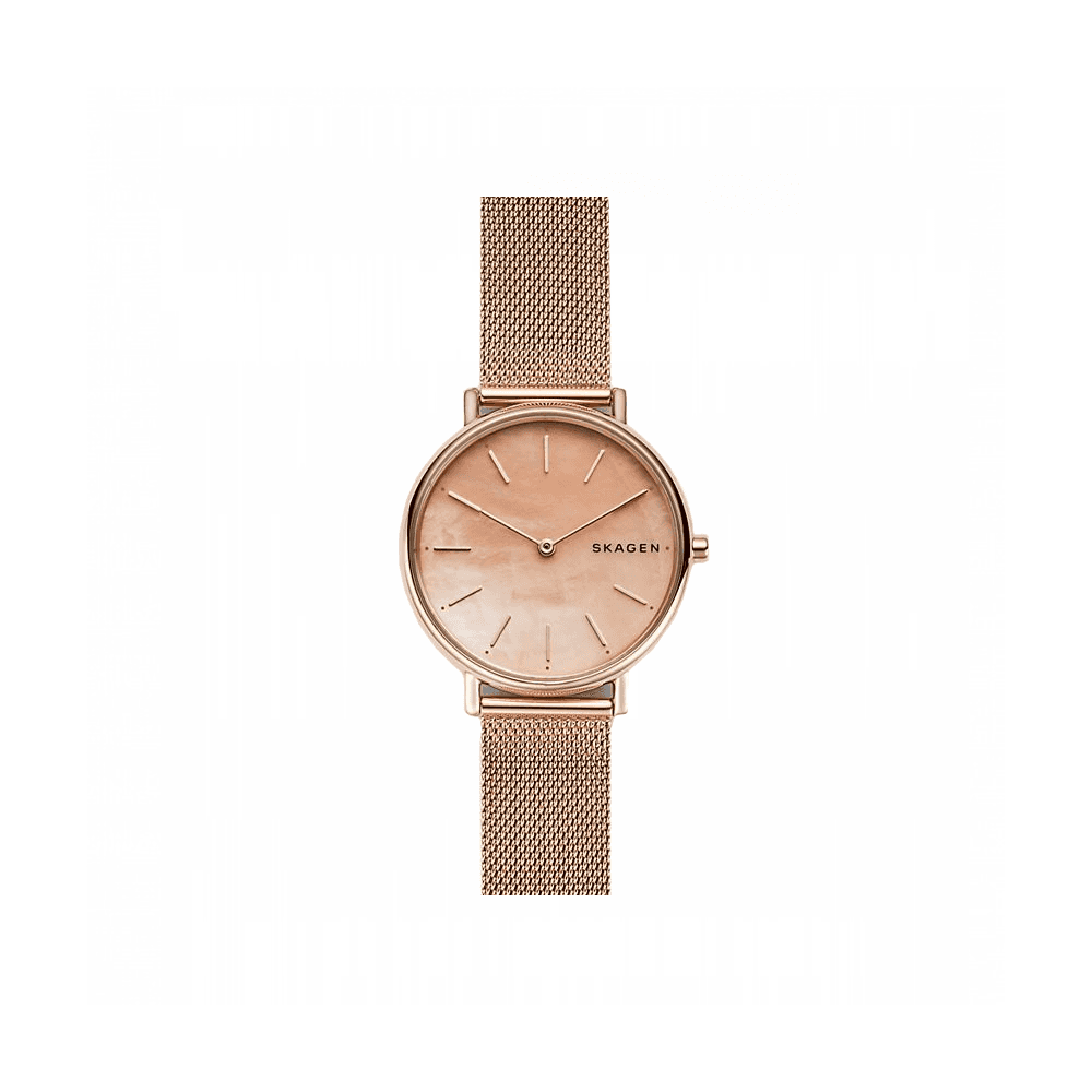 56f647f93aba Skagen Signatur Slim Rose-Tone Steel Mesh Watch ~ SKW2732 - Watches ...