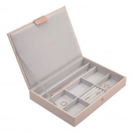Stackers Classic Jewellery Box with Lid - Blush ~ 73760