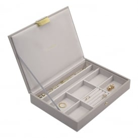 Stackers Classic Jewellery Box with Lid - Taupe ~ 73750