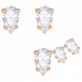 Swarovski Attract Pear Rose Earrings Set ~ 5277358