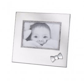 Swarovski Baby Picture Frame with Bow