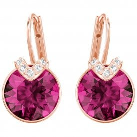 Swarovski Bella V Earrings - Rose Gold/Fuchsia ~ 5389357