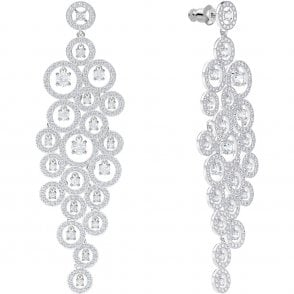 2e2dab55a Swarovski Attract Round Trilogy Earrings - Rhodium/Red ~ 5447058