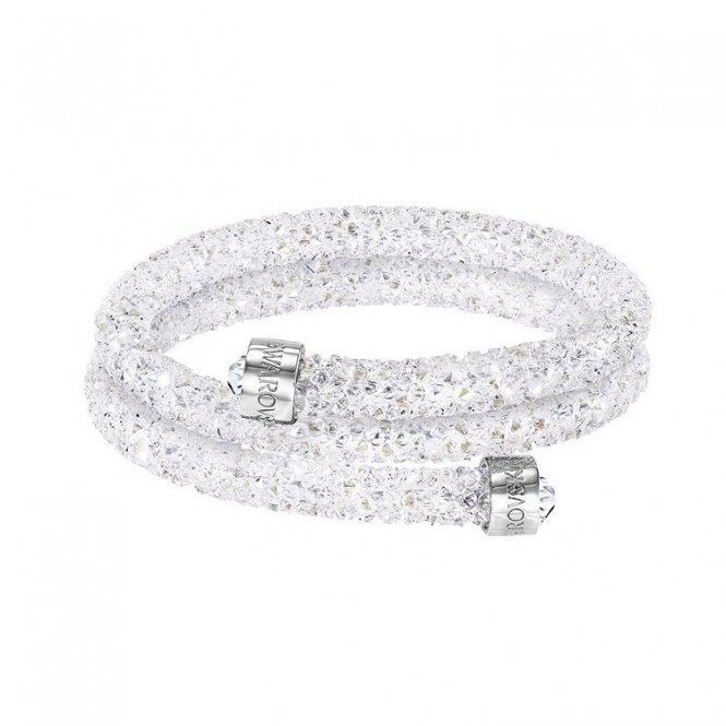 Swarovski Crystaldust Double Bangle White Medium ~ 5237754
