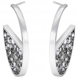 Swarovski Crystaldust Grey Hoop Earrings ~ 5273894