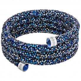 Swarovski Crystaldust Wide Blue Bangle Small ~ 5294928