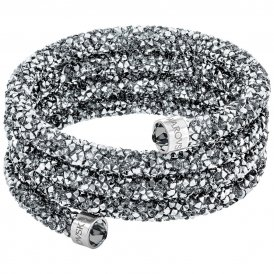 Swarovski Crystaldust Wide Grey Bangle Medium ~ 5277588