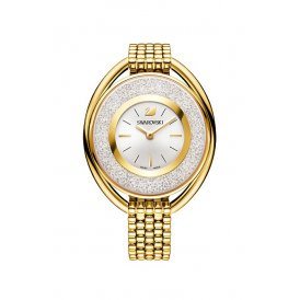 Swarovski Crystalline Oval Gold Tone Bracelet Watch