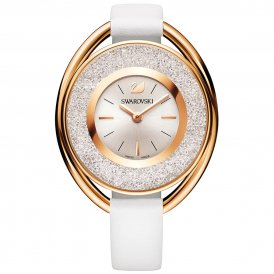 Swarovski Crystalline Oval White Tone Ladies Watch