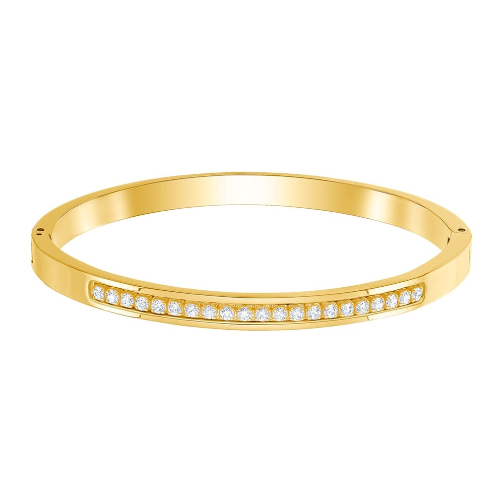 Swarovski Further Thin Bangle Small Gold 5412059