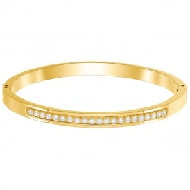 Swarovski Further Thin Bangle - Small - Gold ~ 5412059
