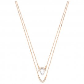 Swarovski Gallery Pear Rose Layered Necklace ~ 5278755
