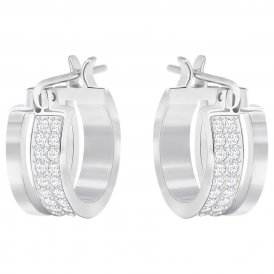 Swarovski Graceful Hoop White Pierced Earrings ~ 5292679