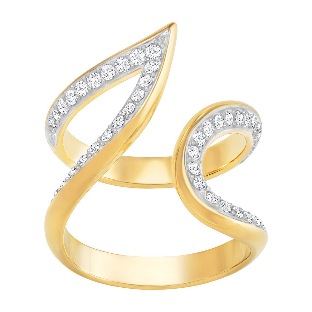Swarovski Groove Wide Gold Ring 52 ~ 5294991 - Jewellery from ...
