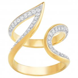 Swarovski Groove Wide Gold Ring 60 ~ 5294993