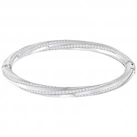 Swarovski Hilt Bangle - Rhodium - Small ~ 5372858