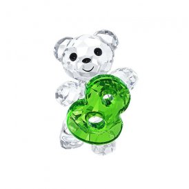 Swarovski Kris Bear Number Eight Crystal Figurine
