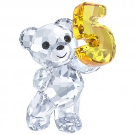Swarovski Kris Bear Number Five Crystal Figurine