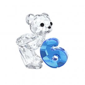Swarovski Kris Bear Number Six Crystal Figurine