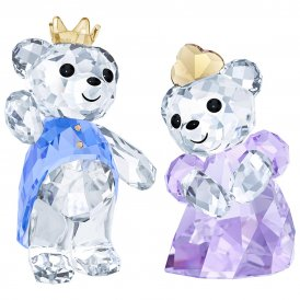 Swarovski Kris Bear Prince & Princess Crystal Figurines ~ 5301569
