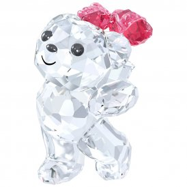 Swarovski Kris Bear Say It With Roses Crystal Figurine