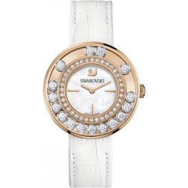 Swarovski Lovely Crystals Gold Gold and White Watch