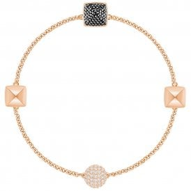 Swarovski Remix Spike Strand Bracelet - Rose Gold/Black ~ 5373213