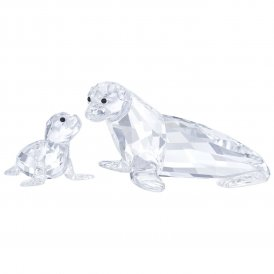 Swarovski Sea Lion Mother & Baby Crystal Figurine ~ 5275796