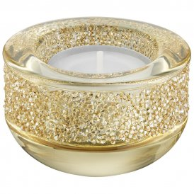 Swarovski Shimmer Tea Light Golden Shadow