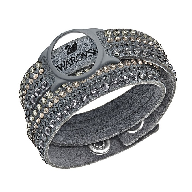 Swarovski Slake Deluxe Grey Activity Crystal Bracelet Medium