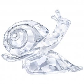 Swarovski Snail On Leaf Crystal Figurine