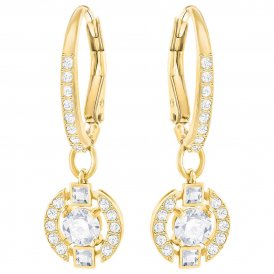 Swarovski Sparkling Dance Round Gold Earrings ~ 5290963