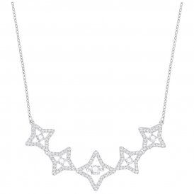 Swarovski Sparkling Dance Star Necklace Rhodium ~ 5349663