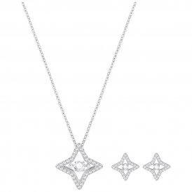 Swarovski Sparkling Dance Star Set Rhodium ~ 5349667