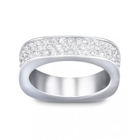 Swarovski Vio Rhodium Ring 55